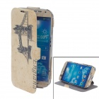iTOP London Bridge Style Protective PU Leather Case w / Screen Protector für Samsung i9500 S4
