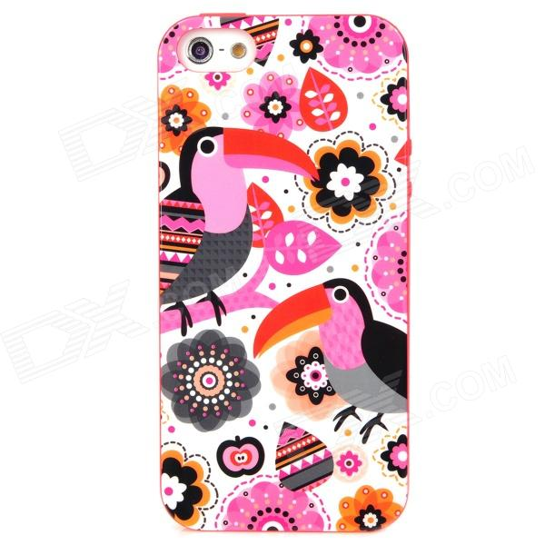 LoFter ASE2898 Cute Cartoon Woodpecker Pattern Protective TPU Back Case for Iphone 5 - Multicolored cartoon pattern matte protective abs back case for iphone 4 4s deep pink