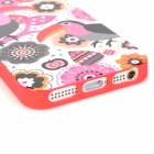 LoFter ASE2898 Cute Cartoon Woodpecker Pattern Protective TPU Back Case for Iphone 5 - Multicolored