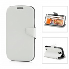 Protective PU Leather Flip-Open Case for Samsung Galaxy S4 i9500 - White + Black