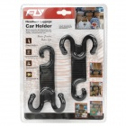 Hanging Type Headrest Luggage Car Holder Hooks - Black