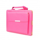 Stylish Handheld PU Leather Smart Case for Ipad 3 - Deep Pink