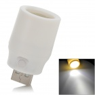 USB Powered 1W 78lm 7000K White Light Lamp w/ Switch - White
