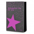 Simple Fashion Commercial Paper Notebook - Purple + Black (60-Page)