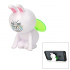 Cute Rabbit Style 360 Degree Rotatable Suction Cup Holder Stand for iPhone / iPod - White + Black