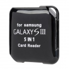 5-in-1 SD / TF / Mini SD / MS / M2 Card Reader for Samsung Galaxy S3 / S4 - Black