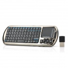 iPazzPort KP-810-18R R.F 2.4G Wireless 92-Key English Russian Keyboard w/ IR Remote / Touchpad