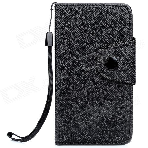 Stylish Protective PU Leather Case w/ Strap for Ipod Touch 5 - Black