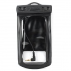 WP-160C Waterproof Bag w/ Armband / Neck Strap / Earphone for Samsung Galaxy S4 i9500/i9300 - Black