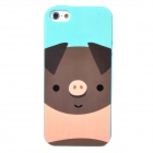 LoFter ASE2874 Cute Cartoon Pig Pattern Protective TPU Soft Back Case for Iphone 5 - Multicolored