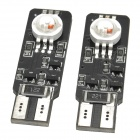 T10 6W 201lm 2-LED 7-Color Light Car Decoding Clearance Lamp - (2 PCS / 12V)