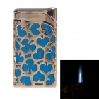 HONEST BCZ384-1 Fashion Windproof Butane Lighter- Gold + Blue