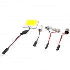 T10 / GA9S / Festoon 7W 255lm 8-LED White Light Car lâmpada de leitura / lâmpada Interior - (12 ~ 24V)