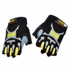Free Soldier Outdoor Sports Half-Finger Riding Gloves - Black + Yellow (Size L)