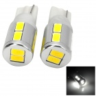 T10 2W 160lm 10-SMD 5630 LED White Light Car Steering Light - (12V / 2 PCS)