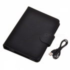 360 'Rotation PU Ledertasche Case Stand + Bluetooth V3.0 59-Key Keyboard für Ipad MINI - Schwarz
