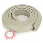Baby Safe Soft Cuttable PVC Bumper / Anti-Collision Strip - Light Grey (200cm)
