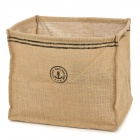 Square Folding  Signature Cotton Storage Bucket - Beige