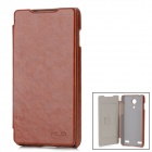 KALAIDENG Flip-Open Leather Case w/ Card Slot for ZTE Nubia Z5 - Chocolate