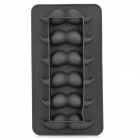 Creative Cool Mustache Shape Ice Cube Tray - Black