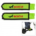 ACACIA 6356 Nylon Bicycle Cycling Pedal Strap - Green + Black (Pair)