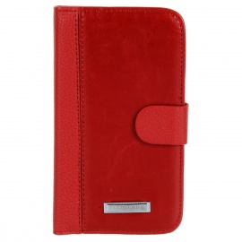 Protective PU Leather + Plastic Case for Samsung Galaxy Grand Duos i9082 - Red