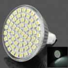 MR16 4W 260lm 60-SMD 3528 LED White Light Spotlight - Silver (12~14v)