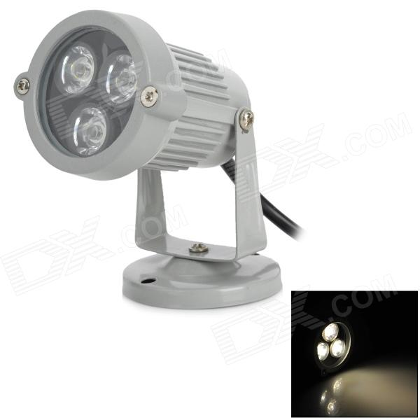 3W 3300K 260lm 3-LED Warm White Spot Light Lamp Bulb - Grey (9~11V)