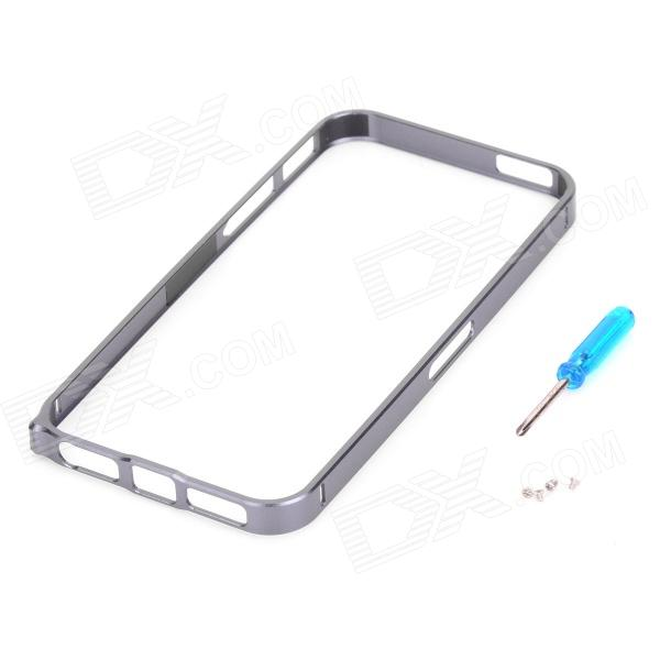Ultra-thin Aluminum Alloy Bumper Frame for Iphone 5 - Grey acq100 30 airtac type aluminum alloy thin cylinder all new acq100 30 series 100mm bore 30mm stroke