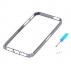 Ultra-thin Aluminum Alloy Bumper Frame for Iphone 5 - Grey