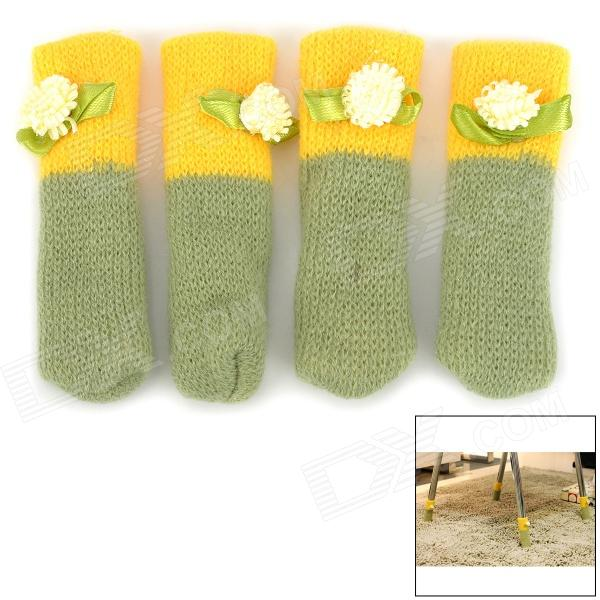 Desk Chair Foot Cover - Green + Yellow (4 PCS)
