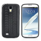 W Pattern Protective PVC Case for Samsung Galaxy S4 i9500 - Black