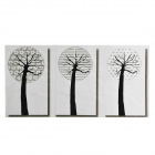 Big Tree Pattern Oil-proof Kitchen Wall Sticker - Black + White + Grey (90 x 45cm)