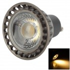 GU10 3W 220LM 3000K Warm White Light COB LED Bulb - Deep Grey + Black (AC85-265V)