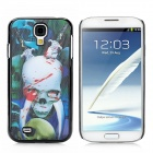 3D Skull Pattern Protective  Plastic Case for Samsung Galaxy S4 i9500 - Black + White