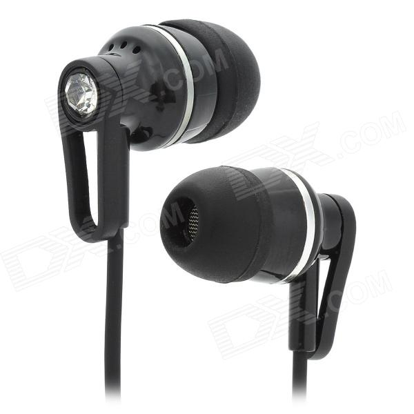 OVLENG K83MP Universal Noise Isolating In Ear Earphone - Black + Silver (114cm)