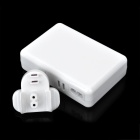 6-USB Adapter Charger Porto AC w ​​/ UK Plug para Iphone / Ipad / Ipod / Samsung Tablet PC - Branco
