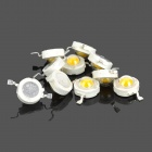 1W 100lm 3300K Warm White LED Bulb Sets - White + Yellow (10 PCS)