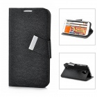 MAGE Protective PU Leather + Plastic Case for Samsung Galaxy S4 i9500 - Black