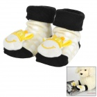 Cute Anti-slip Cotton Socks for 0~7 Months Baby - Black + White + Light Yellow