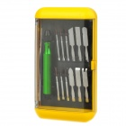 Best BST-302 14-in-1 Precision Repair Opening Tool Kit for Iphone / Samsung - Silver + Green + Black