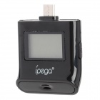"IPEGA 0.8"" LCD Digital Alcohol Tester w/ Backlight for Samsung i9300 / i9500 / Sony / HTC - Black"