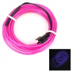 USB Decorative EL Cold Light Flexible Cable - Purple + Black (3m)