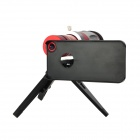 20X Magnification Telescope Lens w/ TrIpod / Back Case Set for Iphone 5 - Silver + Red