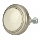 Zinc Alloy Door Handle Knob - Silver + Ivory