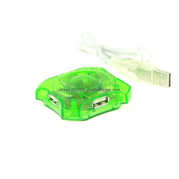 USB 1.1 4-Port Hub Green