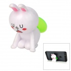 Cute Rabbit Style 360 Degree Rotatable Suction Cup Holder Stand for iPhone / iPod - White + Green