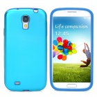 Protective Aluminum Alloy + Silicone Back Case for Samsung Galaxy S4/I9500 - Blue