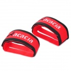 ACACIA Elastic Velcro Bicycle Cycling Pedal Straps - Red + Black (Pair)