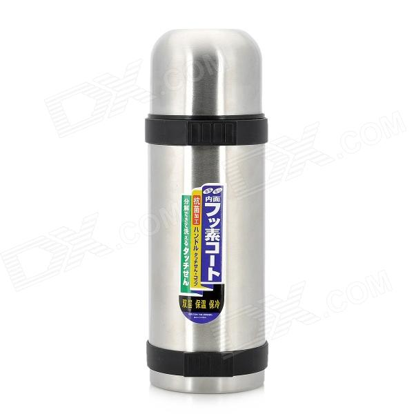 Dual-Layer Stainless Steel Warm Cold Insulation Cup Thermos - Silver (1.2L)